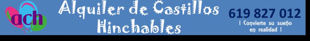 Alquiler de CASTILLOS HINCHABLES baratos en MADRID