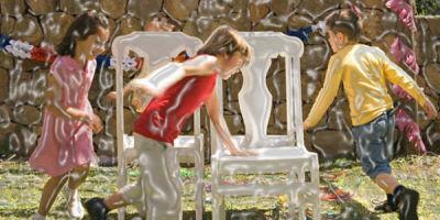 Animación infantil Juego de la silla